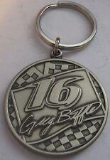 Greg Biffle 16 Key Ring NASCAR Pewter Metal Keychain Grainger Racing