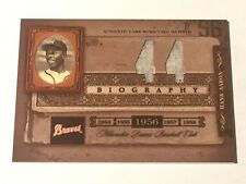 Hank Aaron 2005 Playoff Biography 2-Jersey Relic #44 ~JERSEY #~ Braves HOF