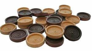 """26- Checkers Game Pieces Walnut and Clear Coat 1-1/4"""" Wide Checkers Game Gift"""