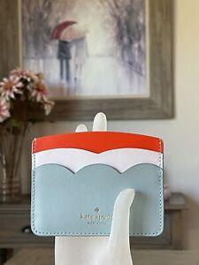 NWT Kate Spade Gemma Small Slim Card Holder Cloud Mist  WLR00554