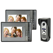 "7"" Wired Video Door Phone Intercom-2 Monitor 1 CCD Camera Doorbell Home Intercom"