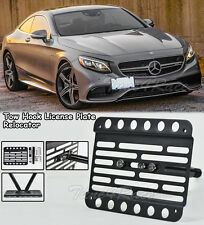 For 15-UP Benz S63 AMG Coupe C217 Front Bumper Tow Hook License Plate Bracket