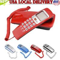 Wall Mounted Corded Telephone Landline Phone With Caller ID Home Office Desk USA