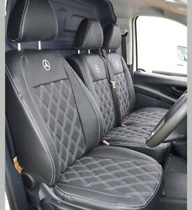 Mercedes Vito W447 Waterproof Tailored Diamond Quilted Van Seat Covers
