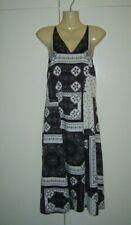 79cb6efd9683 Ladies Topshop Summer Sun Strappy Midi Dress Size 8 Floral Black & White New