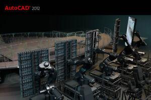 Autodesk AutoCAD 2012 Deutsch Vollversion NEU 3D 64bit 32bit ORIGINAL LIZENZ