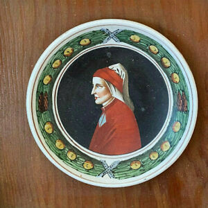 Wooden Frame Antique French Medallion Sarreguemines Faience Placque Old HELP ??