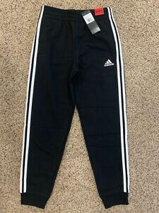 adidas boys Icon 3 Stripe Fleece Jogger Pants size S M