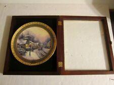 Thomas Kinkade 2003 Village Christmas #7412A Ceramic Plate