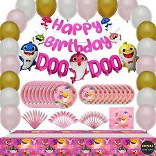 Baby Shark Birthday DOO DOO Decorations Party Supplies Balloons Invitations