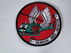 Aufnäher  SAR-Rettungshubschrauber Search and Rescue ca 10 cm mit Klett u.ggst.