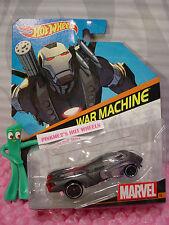 2015 MARVEL Comics Hot Wheels #16 WAR MACHINE Steel Gray;pr5 1:64 Die-cast nip