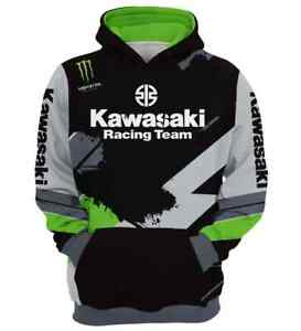 Herren Kapuzenpullover KAWASAKI Racing Team Hoodie Gr.M