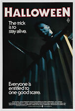 "HALLOWEEN (1978) Silk Fabric Movie Poster 24""x36"" Horror Michael Myers Slasher"