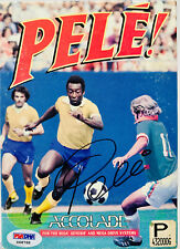 Pele! Signed Sega Genesis Video Game with Cover Brazil - Autographed PSA DNA COA