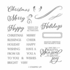 Stampin Up, ** Merry Christmas To All  ** Stamp Set, Photopolymer, BNIP