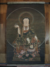 MAGNIFICENT ANTIQUE KOREAN SCROLL Goryeo Joseon 7 Foot Ksitigarbha Koryo Buddha