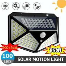 100 LED Solarleuchte Solarlampe Bewegungsmelder Außen Fluter Sensor Strahler