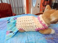 Dog Apparel SOFT CREAM Dress with PUPPY Sweater SKIRT MED