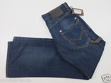 Cult Jeans energia limone trousers Relaxed 31 Button Fly dark blue used NUOVO/p40