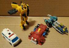 LOT OF 4 TRANSFORMERS ACTION FIGURES, USED - ONE VINTAGE - HASBRO, BUMBLEBEE