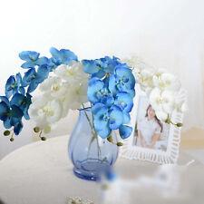 7Head Artificial Butterfly Orchid Silk Flower Bouquet Phalaenopsis Wedding Decor