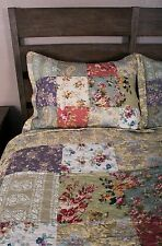 Blooming Garden Cottage Chic Floral Paisley Cotton Patchwork Quilt Set Twin