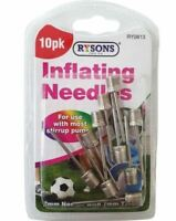 PACK OF 10 Inflating Pump Needle Football Rugby Volley Ball Valve Adaptor Air