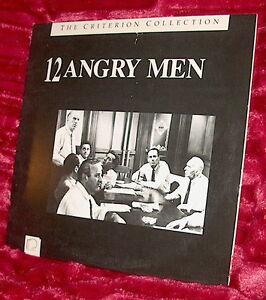 LD Laserdisc 12 ANGRY MEN Criterion #27 Henry Fonda Lee J. Cobb Ed Begley