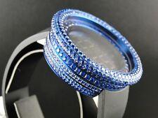 Mens 52Mm Techno Com Kc Joe Rodeo Simulated Blue Diamond Watch 15 Ct