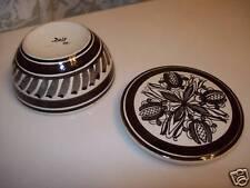 Jewelry Box Signed Vintage Powder Trinket Deco Design Brown
