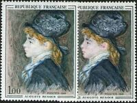 """FRANCE STAMP TIMBRE 1570 """" MODELE DE RENOIR , VARIETE DE COULEUR """" NEUF xx LUXE"""