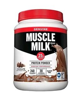 Muscle Chocolate 1.93 lbs  32g Of Protein ( Torn bottle but New and sealed)