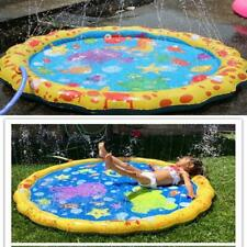 100cm PVC-Summer Beach Mat Lawn Sprinkler Childrens Outdoor Funny Play Water eai