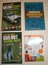 4 SURVIVAL books * Skills Kits Prepping Bug-Out Vehicle Preparedness *FREE SHIP