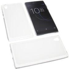 BOLSA para Sony Xperia L1 Funda protectora de móvil TPU GOMA FUNDA TRANSPARENTE