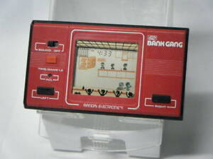 """Bandai / """"Bank Gang"""" Game Watch LCD Digital Used Japan Limited Rare Operation OK"""