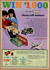 1966 Emenee Thermo Craft Workshop toy Jeep plane boat vintage print ad