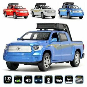 1:32 Toyota Tundra Diecast Model Car & Toy Gifts For Kids. Light Sound Pull Back