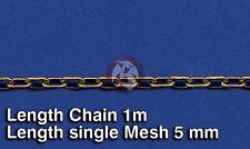Royal Model 1/35 Metal Chain (B) Single Mesh 5mm (Chain Length 1 meter) 517