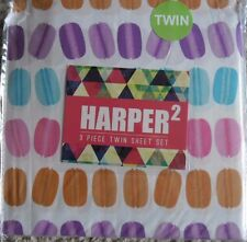 HARPER 2 HAMBURGERS 3PC TWIN SHEET SET NEW! NEW!