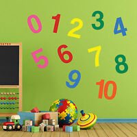 Nursery Wall Decor 1 to 10 Sticker Kids Decal Vinyl Removable Decals Art Room A8