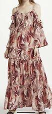 STELLA FOREST PALMA MAXI DRESS FLOUNCE RUFFLE SILK COTTON 42 12-14 BNWT £220