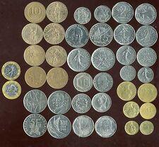 FRANCIA LOT 20 MONETE prima dell'euro (con commemorativa)