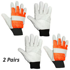 Large Chainsaw Gloves Hi Vis Work Glove Safety Both Hands Size 10 Protected x 2