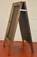 TRADITIONAL WOODEN PAVEMENT SIGN A-BOARD CHALKBOARD / BLACKBOARD PAINTED PANEL