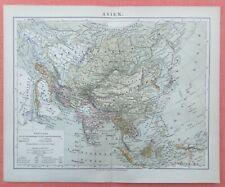 Asien Besitzungen Kolonien  MAP  Historische Landkarte 1886