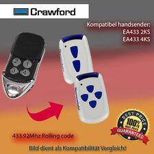 Handsender Garagentorantriebe 433,92 MHz CRAWFORD EA433 2KS Funksender