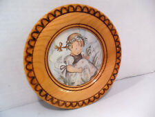 Hummel Collectible Wooden Wall Plate W. Germany