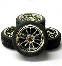 A250085 1/10 En Carretera Suave carretera pisada Coche Ruedas y neumáticos 10 habló Cromo 4